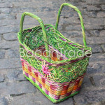 Beautifully cane basket with green color