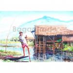 Fisherman on Inle Lake in Myanmar