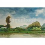 Attraction Myanmar Pagoda Kyauk-Kalap