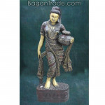 The InnWa Lady wood carving sculpture