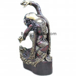 The Lady dancing with oil lamp style wood carving