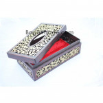 Gold Arabesque Design Tissue Box
