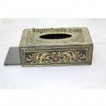 Carving Wood Tissue Box Mosaic Design