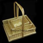 Square Handmade Bamboo Basket Set