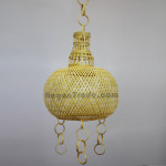 Ceiling lamp cover with bamboo Art