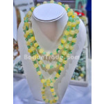 Handmade Bead necklace Set with Jade and Quartzite  Yellow