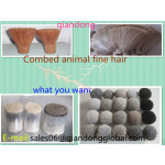 combed animal fine hair