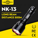 260 Lumens CREE XP-E LED Waterproof Rechargeable Aluminum Flashlight (NK-13)