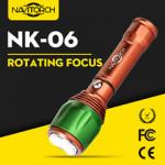Aluminium Handheld Adjustable Focus LED Flashlight/LED Torch (NK-06)