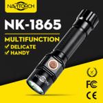 Long Run Time Handheld Impact Resistant LED Torch/Aluminium Flashlight (NK-1865)