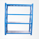 Durable warehouse racking industrial collapsible antique metal shelves